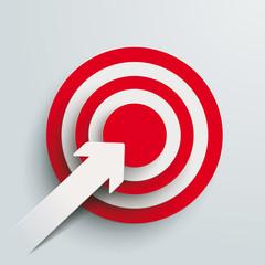 Paper Cut Arrow Target PiAd