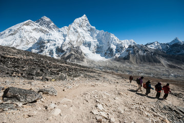 Mount Everest and himalayas viewed from Kala Patthar