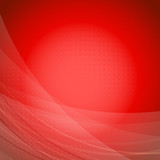 Red wave bright background template