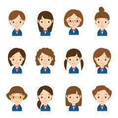顔 セット/学生 女の子
