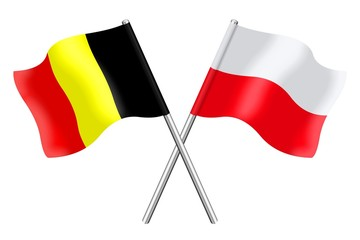 Flags : Belgium and Poland