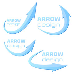 Arrow design template - blue - ready to use