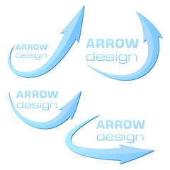 Arrow design template - blue - ready to use