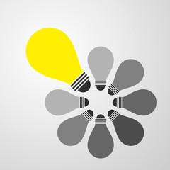 lighting idea bulb