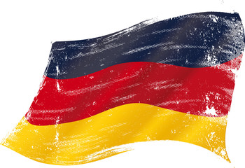 German grunge flag
