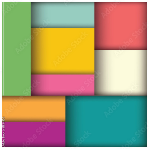 Abstract geometric 3d square background, template © bluelela