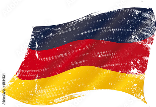 Fototapeta German grunge flag