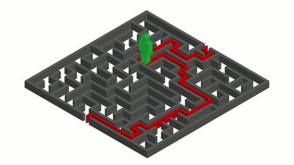 Omino verde nel labirinto JIO