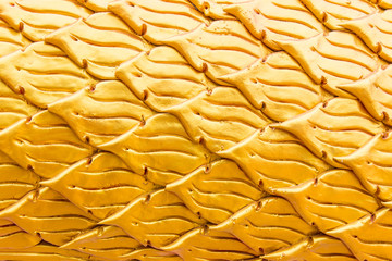 Golden scale of naga statue , Texture