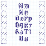 Vector Sketch Book Letters
