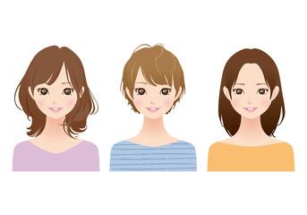 女性/髪型 セット