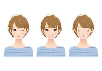 女性/表情 セット
