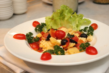 Healthy Greek salad with cheese