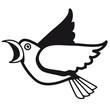 Vogel fliegen Tier Cool Natur Comic