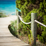 Wooden path leading to the beach.