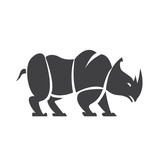 Vector logo rhinoceros
