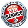 24h Service - Rund um die Uhr - Button