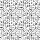 Fototapety seamless doodle fitness pattern