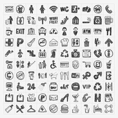 doodle public sign icon