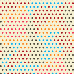 colored points seamless pattern