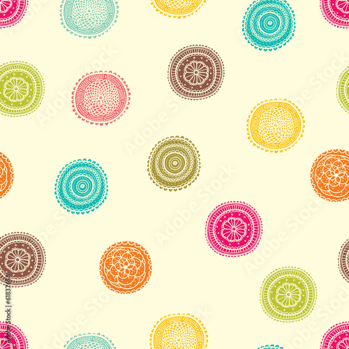 Cute seamless pattern with flowers.
