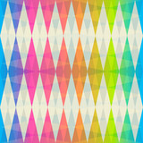 rainbow rhombus seamless pattern