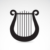 Ancient greek vector harp icon.
