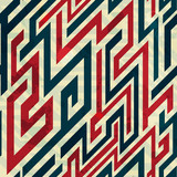 retro lines seamless pattern with grunge effect