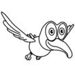 fliegen Vogel Tier witzig süss Design