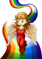 An angel above the rainbow