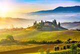 Fototapety Tuscany at sunrise