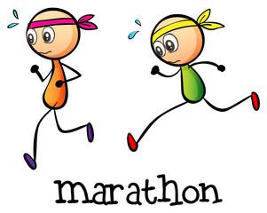 A marathon between two stickmen