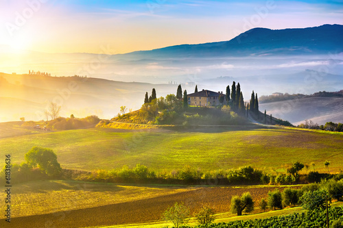 Tuscany at sunrise - 61838636