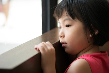 Sad Asian girl