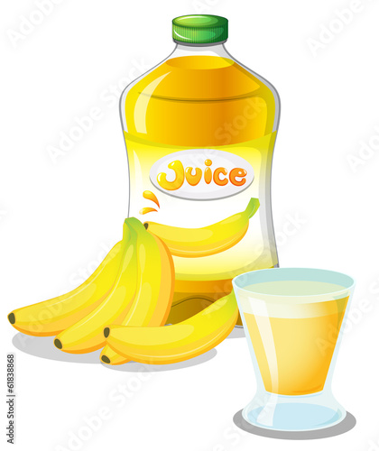 Banana fruit and juice