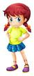 An angry young girl