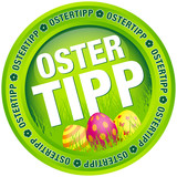 "Button ""Ostertipp"" Ostereier grün"