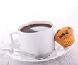 coffee cup and muffin