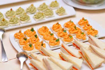 Catering food closeup