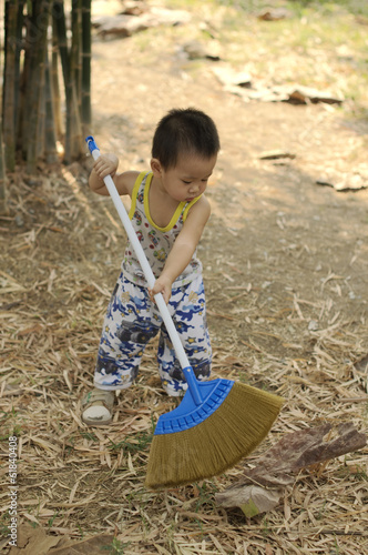 Sweeping Toddler