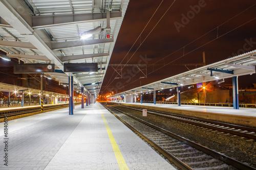 Staande foto Treinstation Railway station