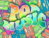 Pop music retro concept Vintage poster design