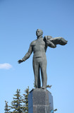 First astronaut Jury Gagarin monument in Gagarin city
