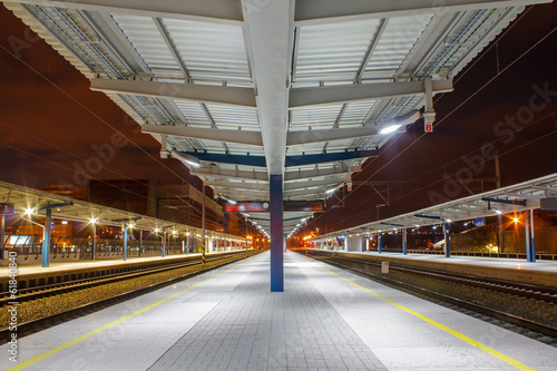 Foto op Canvas Treinstation Railway station