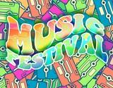 Music festival retro concept Vintage poster design poster