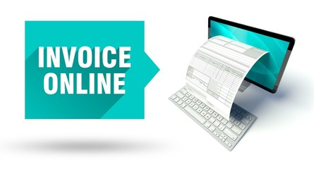 Invoice online network computer with tax form