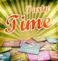 Party time vintage poster design Retro