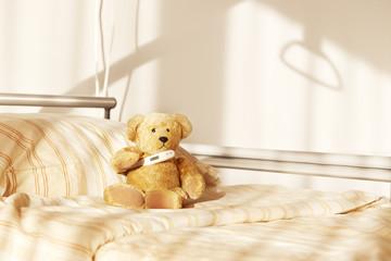 Bett Teddy Bär Krankenhaus