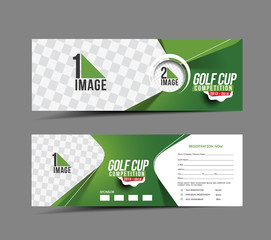 Golf Cup Header & Banner Design