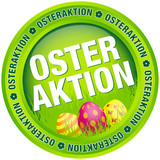 "Button ""Osteraktion"" Ostereier grün"